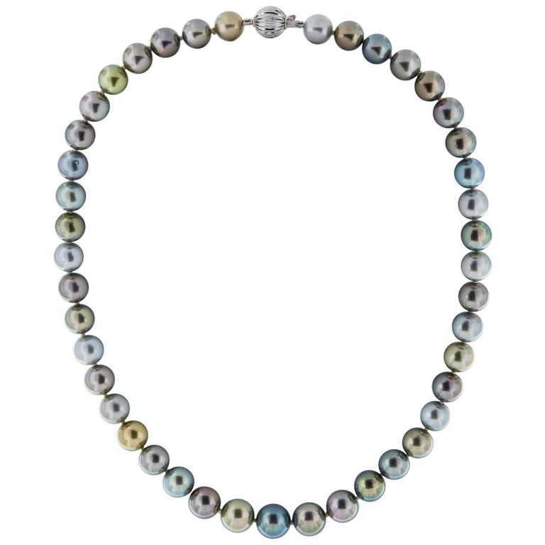 Multicolored Tahitian Pearl Necklace