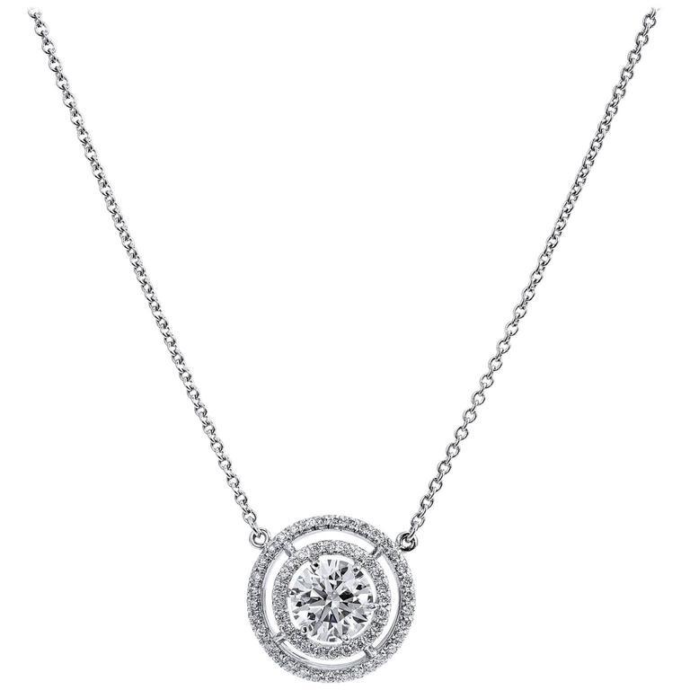 H & H 1.87 Carat Diamond white gold Pendant Necklace