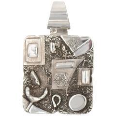 Sterling Silver Artifact Pendant