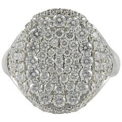 High Quality Contemporary Diamond Signet Ring