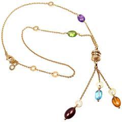 Bulgari B.Zero1 Gemstone Yellow Gold Pendant Necklace