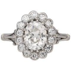 Edwardian Diamond Coronet Cluster Ring, circa 1910