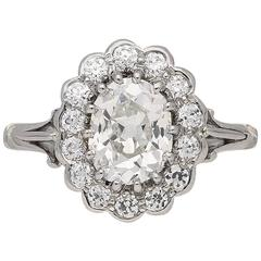 Edwardian Diamond Coronet Cluster Ring, circa 1910