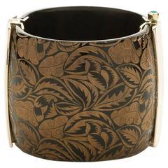 Fouche Horn Emerald Cuff Bracelet