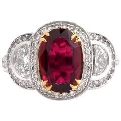 21st Century Ruby Diamond White Gold Ring