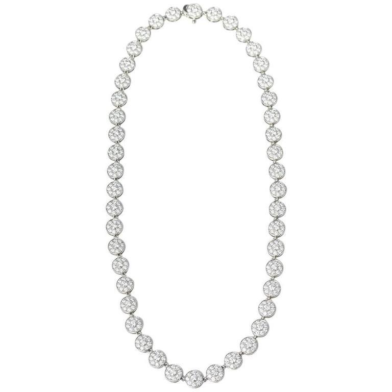 Tiffany & Co. Diamond Platinum Circlet Necklace