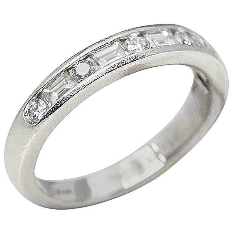 Tiffany & Co. Diamond Platinum Half Eternity Ring