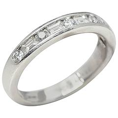 Tiffany & Co. Diamond Platinum Half Eternity Ring