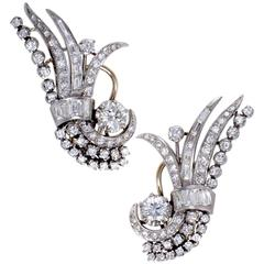 Full Diamond Pave Platinum Earrings