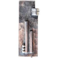 1932 Rare Jean Despres Hammered Silver Brooch