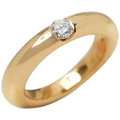 Cartier Diamond Stackable Gold Elipse Ring