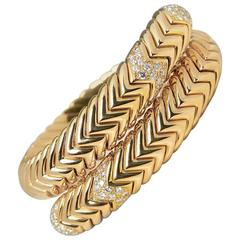 Bulgari 2.00 Carat Diamond Gold Serpenti Bracelet