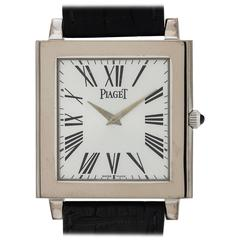 Piaget White Gold Oversize Mecanique Dress Manual Wind Wristwatch, circa 2010