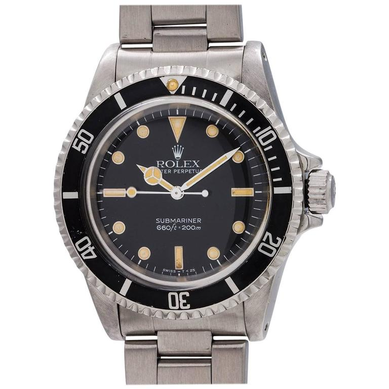 Rolex Stainless Steel Submariner Self Winding Wristwatch Ref 5513, circa 1988 1