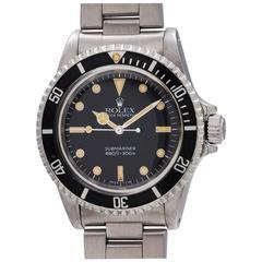 Rolex Stainless Steel Submariner Self Winding Wristwatch Model 5513, circa 1988