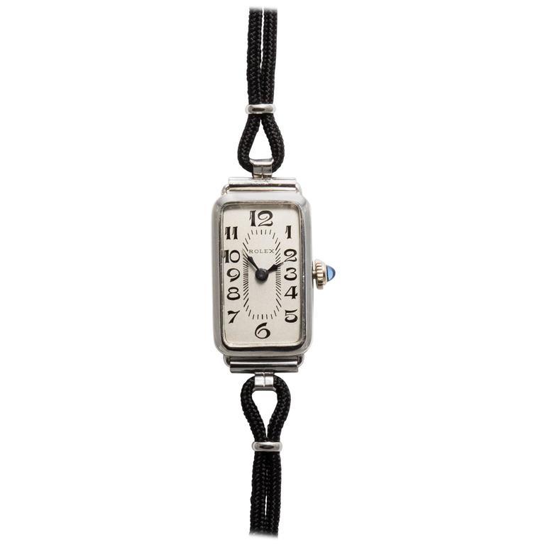 Rolex Ladies White Gold Wristwatch 1
