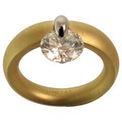 Diamond Yellow Gold Platinum Engagement Ring