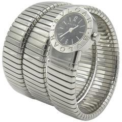 Bulgari Ladies Stainless Steel Tubogas Snake Wristwatch