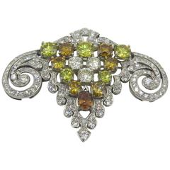 Diamond Platinum Brooch
