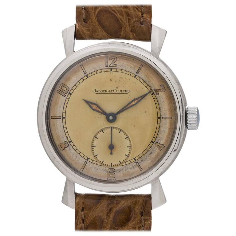 Jaeger-LeCoultre Dress Model Manual Wind Wristwatch, circa 1940s 1