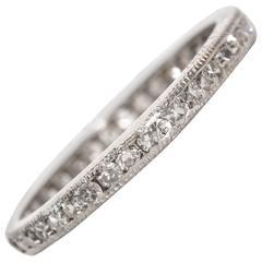 1890s Rare Single Cut Diamond Eternity Band Ring