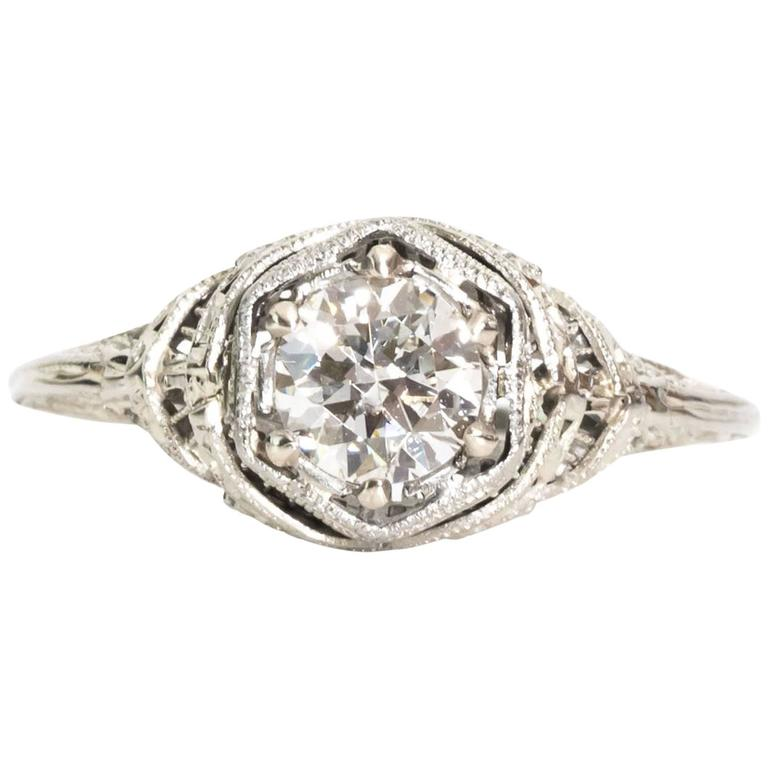 1940s traditional gia certified diamond cathedral for Orthodox wedding rings for sale