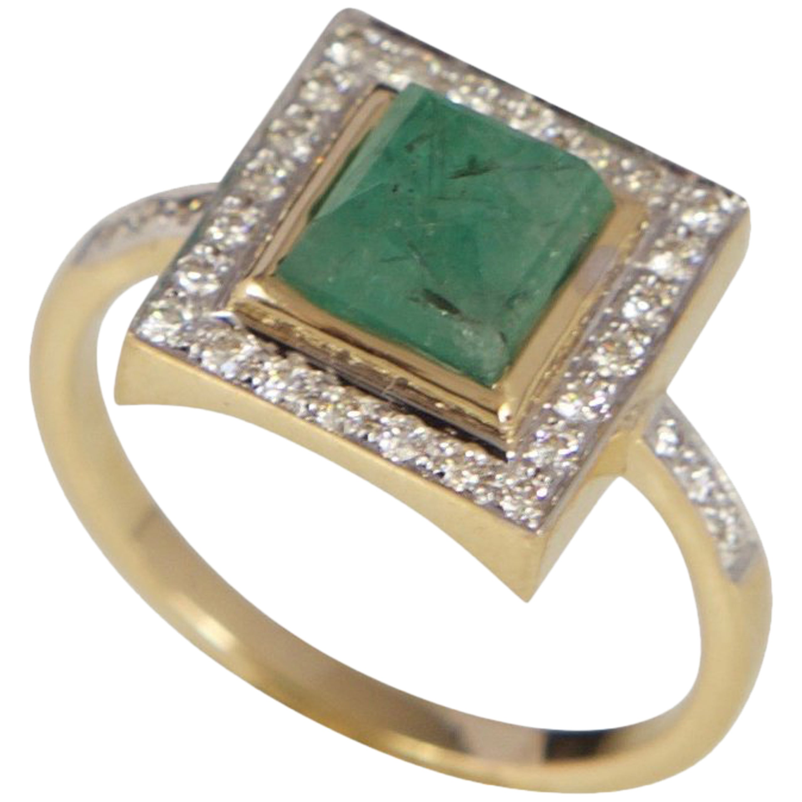 Jade Jagger Diamond, emerald & yellow-gold ring