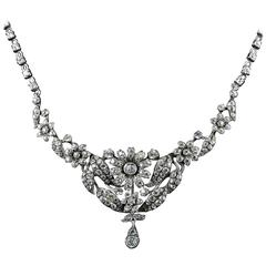 beautiful Sterling Silver Paste Necklace