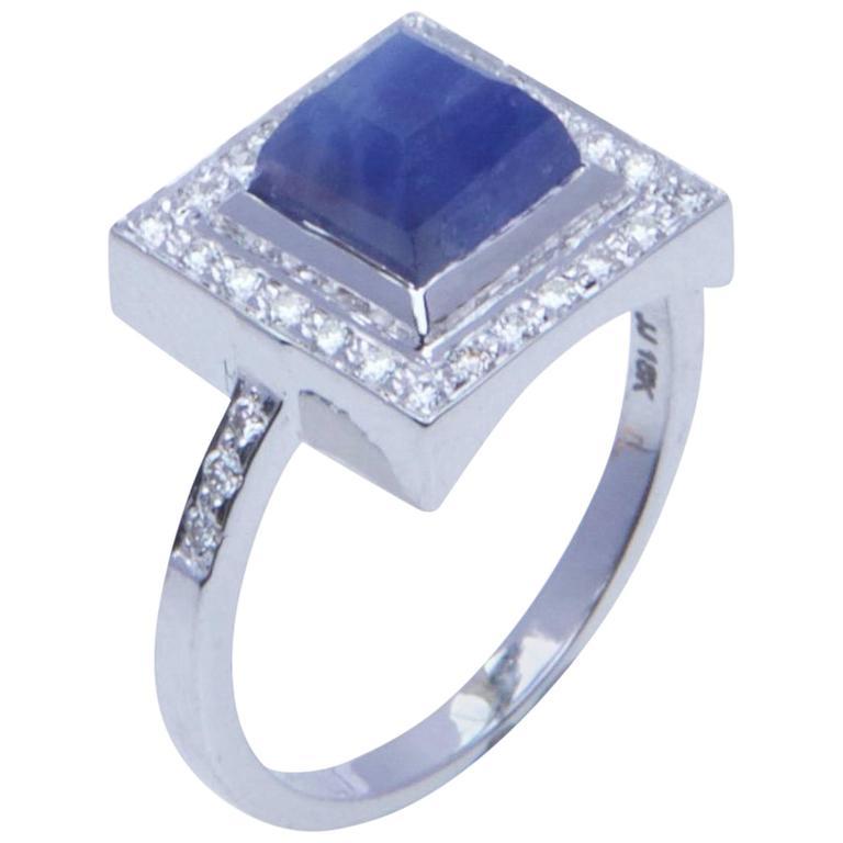 Jade Jagger Sapphire Diamond White Gold Ring