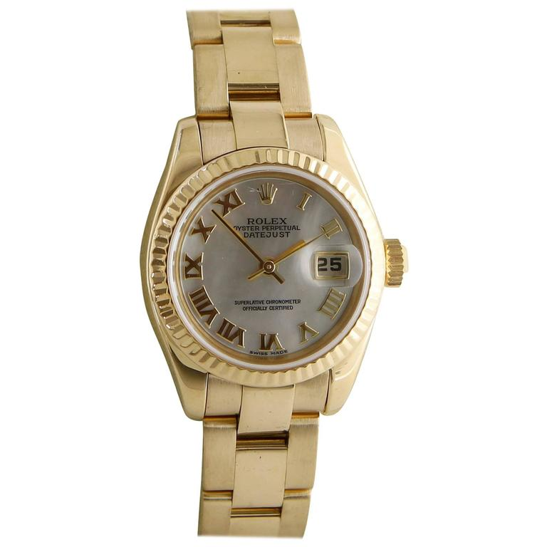 Rolex Ladies Yellow Gold Datejust automatic Wristwatch Ref 179178
