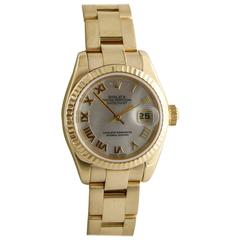 Rolex Ladies Yellow Gold Datejust automatic Wristwatch, Ref 179178