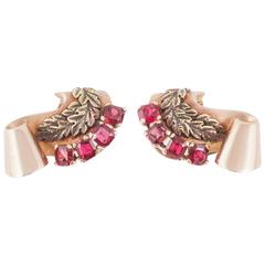 Le Roy et Fils London Spinel Diamond Gold Clip-On Earrings
