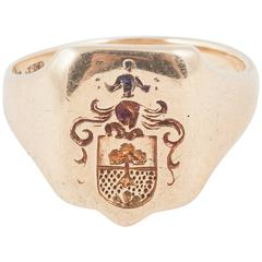 Small Gold Signet Ring