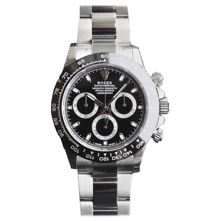 Rolex Ceramic Black Dial Cosmograph Daytona Automatic Wristwatch Ref 116500  For Sale