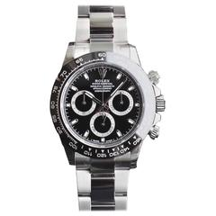 Rolex Ceramic Black Dial Cosmograph Daytona Automatic Wristwatch Model 116500