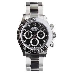 Rolex Ceramic Black Dial Cosmograph Daytona Automatic Wristwatch Ref 116500