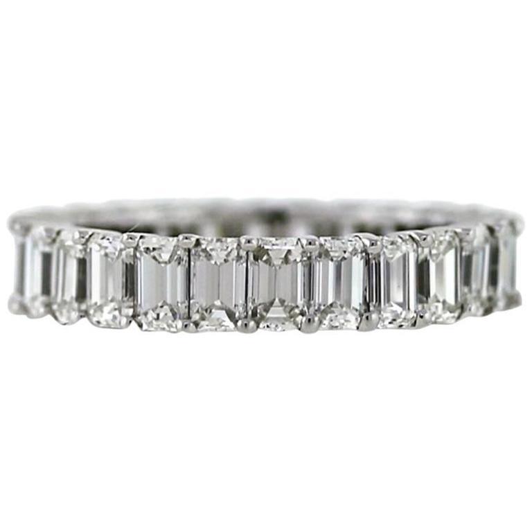 Emerald Cut Eternity Band Ring