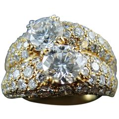 Boucheron 4.47 Carat Diamonds Gold Be Bop Ring
