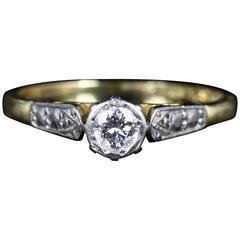 Antique Edwardian Diamond Engagement Ring 18 Carat Gold, circa 1910