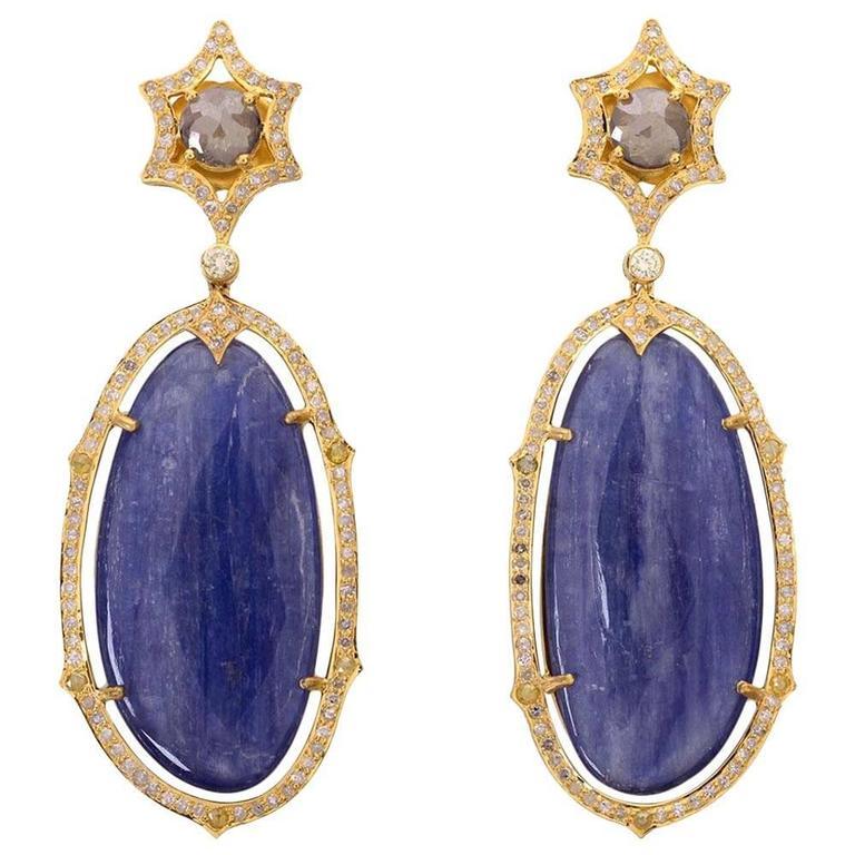 Kynite Diamonds Yellow Gold Earrings