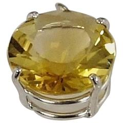 Fancy Cut Golden Citrine Sterling Silver Pendant