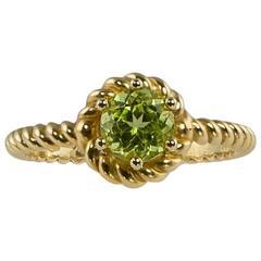 Barbara Dini Gioielli 8 Karat Gold Peridot Ring