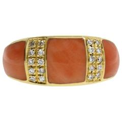 Gold Diamond Coral Ring