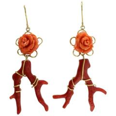 Luise Gold Coral Earrings