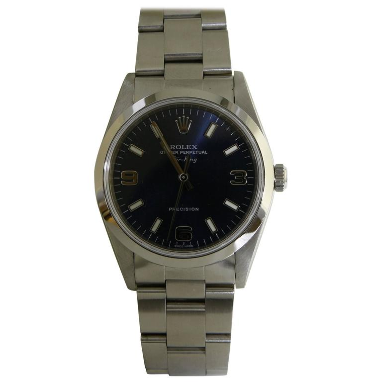 Rolex Stainless Steel Air-King Precision automatic Wristwatch Ref 14000 1