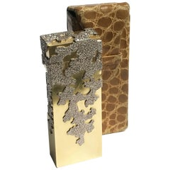 Andrew Grima Yellow and White Gold Diamond Rollagas Lighter for Dunhill, 1967