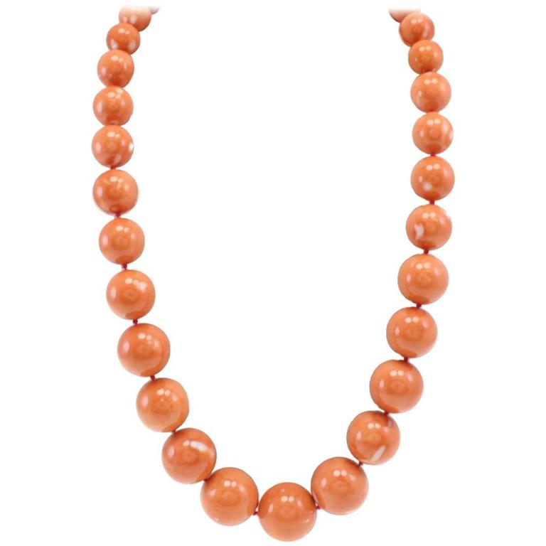 Luise Gold Coral Necklace For Sale