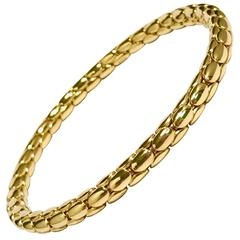 Yellow Gold 18 Carat Timeless Stretch Bracelet