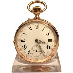 Pink Gold 18 Lines Pocket Watch