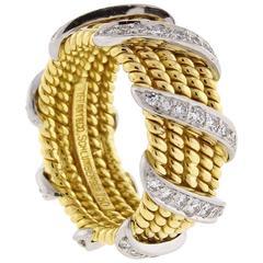 Tiffany & Co. Schlumberger Diamond Five Row Band Ring